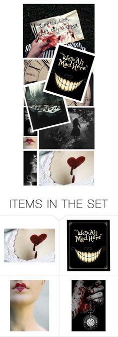 """""""we're all mad here // requested bookmark"""" by gabriella-houck on Polyvore featuring art and Ummbookmarks"""