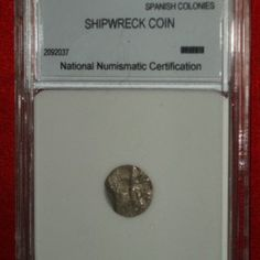 1600′s SHIPWRECK COIN 1/2 REAL COB #2092037