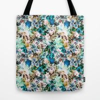 Tote Bag featuring Floral Pattern V2 by Eduardo Doreni
