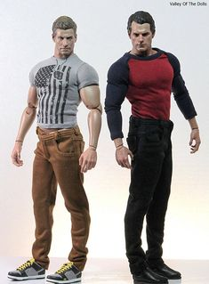 JAKE AND HENRY:  realistic male action dolls, by Hot Toys