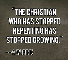 Repentance is absolutely necessary! We are being sanctified and must continue to repent when we are convicted of sin so that our consciences aren't seered with a hot iron! Christian Life, Christian Quotes, Christian Humor, Christian Church, Bible Scriptures, Bible Quotes, Bible Prayers, Scripture Verses, Reformed Theology