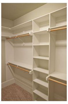 Small Master Closet, Master Closet Design, Master Bedroom Closet, Small Closets, Bathroom Closet, Small Walk In Closet Ideas, Master Closet Layout, Master Bedrooms, Walk In Closet Small