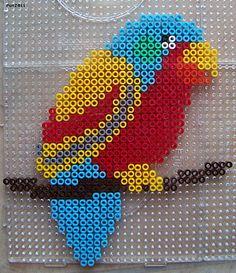 Bird hama perler beads by Les Loisirs de Pat