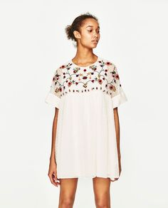 EMBROIDERED JUMPSUIT DRESS-DRESSES-WOMAN | ZARA United States