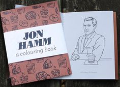 Like John Hamm? Like Puns? Look No Further, Here's the Punny Jon Hamm Coloring Book.