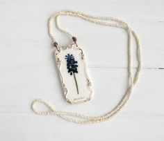 Real Flower Necklace. Real Flower Jewelry. by GrandmasGardenJewel