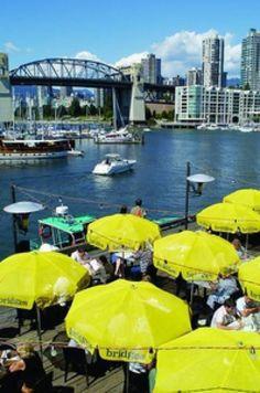 Vancouver restaurants with a view: Bridges Restaurant - Image Courtesy of Tourism Vancouver