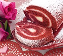 Red Velvet Cake Roll - A beautiful and delicious dessert—guests will ooh and aah with pleasure!