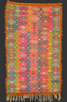 TM 1871, flat woven wool/palm fibre mat, probably Marmoucha, eastern Middle Atlas, Morocco, 1990/2000, 190 x 115 cm (6' 4'' x 3' 10''), p.o.a.