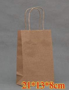 Kraft paper bag, 21X13X8cm, Festival gift paper bag , Fashionable Christmas bag, wholesale price 40pcs/lot