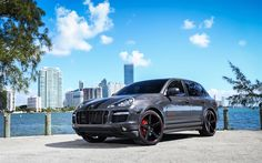 Download wallpapers Porsche Cayenne, GTS, 2017, tuning, gray Cayenne, sports crossover, German cars, Porsche
