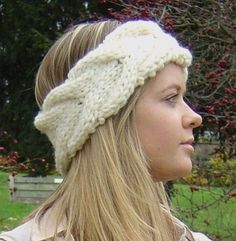 Knitting pattern cable headband ear warmer easy beginner knit knitting pattern chunky basketweave cable headband earwarmer digital file pdf delivery dt1010fo
