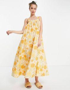 weekend sales Asos, Fashion Prints, Cotton Linen, Fashion Online, Midi Skirt, Floral Prints, Summer Dresses, Design, How To Wear
