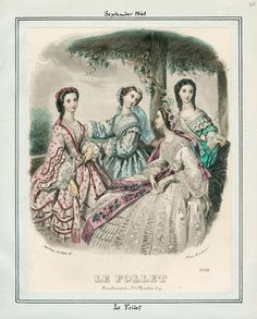 Le Follet, September 1861  Civil War Era Fashion Plate