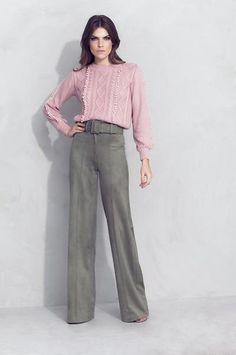 Calça Pantalona Camurça Verde » Novidades