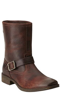 Ariat Rambler Riot Men's Fireside Brown Wide Square Toe Harness Western Boots