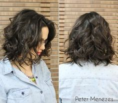 Medium-length messy bob hairstyle