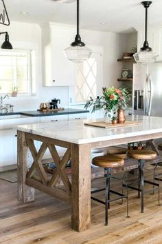 Image result for table-style kitchen islands