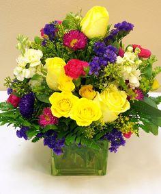 Spring Flower Arrangements, Floral Arrangements, Easter Flowers, Spring Flowers, Mini Carnations, Centerpieces, Table Decorations, Blooming Plants, Flower Delivery