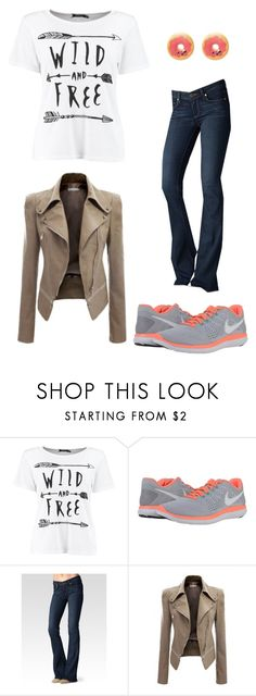 """outfit 57"" by clover986 ❤ liked on Polyvore featuring NIKE and Paige Denim"