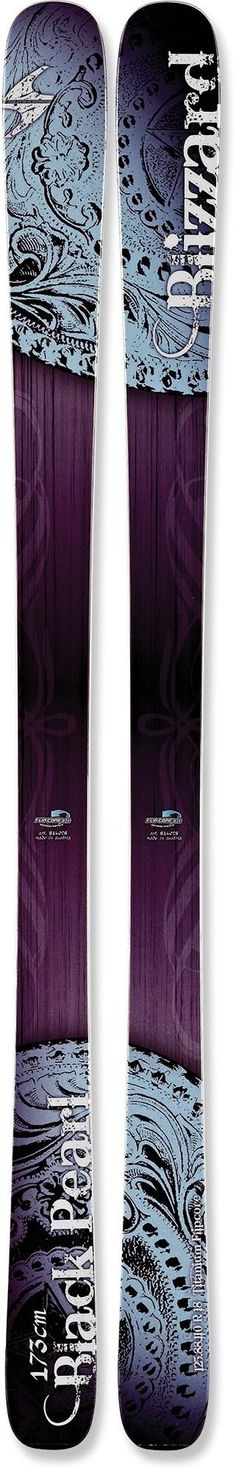 With a nimble 88mm waist, rockered tips and tails to add chatter-resistant stability at high speed on groomers and easy-to-turn flotation in soft snow—Women's - Blizzard Black Pearl Skis - 2013-2014