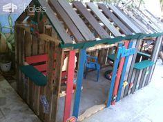 Casa De Niño Con Palettes / Kids Pallet Playhouse Fun Pallet Crafts for Kids Pallet Sheds, Pallet Cabins, Pallet Huts & Pallet Playhouses