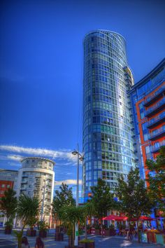 The Number One Tower, Gunwharf Quays, Portsmouth, Hampshire, England
