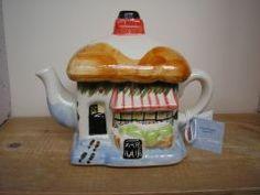 Christmas Cottage Teapot