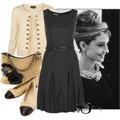 """Audrey Hepburn"" by verabrasil-polyvore on Polyvore"