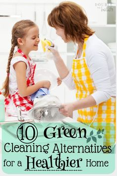 Tired of the fumes? These are some of our family's favorite green cleaning alternatives!