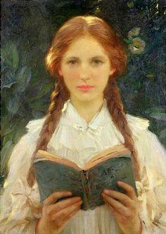 'Ragazza con Trecce' (Girl with Braids): Sir Samuel Henry William Llewellyn (1858 – 1941)