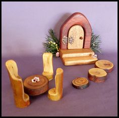 Build a treehouse kit and wooden stick furniture too for Magic cabin tree fort kit