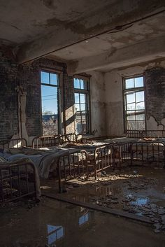 Patient Beds by Justin Earsing on Flickr. Via Flickr: Patient ward at a State Insane Asylum for the Criminally Insane