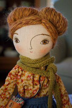 Geek Life - focus on geek life Handmade fabric heirloom doll cloth doll textile doll Doll Sewing Patterns, Sewing Dolls, Doll Clothes Patterns, Clothing Patterns, Fabric Doll Pattern, Sewing Clothes, Fabric Toys, Fabric Crafts, Dolly Doll