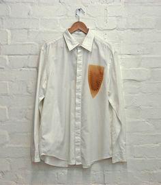 "mauro bonacina ""Print"" cloth with iron Simple Style, My Style, Iron Shirt, Wearable Art, Diy Fashion, Casual Shirts, Shirt Designs, Women Wear, Street Style"