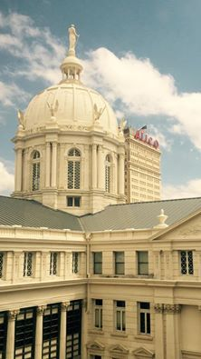 The courthouse downtown and the Alico building. Is there anything more Waco?