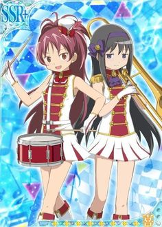 Kyoko & Homura - Band - Madoka Magica Mobage Cards