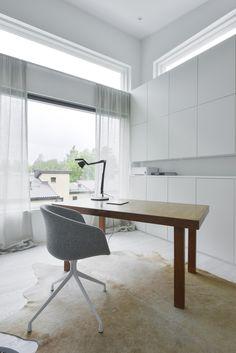 studio Office Desk, Dining Bench, Homes, Interior Design, Studio, Modern, Inspiration, Furniture, Home Decor