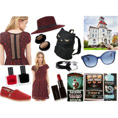 A Trip Down Monroe Ave. by madeline20 on Polyvore featuring Forever 21, TOMS, osumashi pooh-chan, Saachi, Fendi, Miss Selfridge, Armani Beauty, Illamasqua and RGB