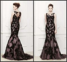 Wholesale Mother Evening Dress - Buy 2014 Ready to Ship Mother of the Bride Dresses Black Appliqued Jewel Neckline Sleeveless Mermaid Tulle Mother's Evening Dress $83.82 | DHgate