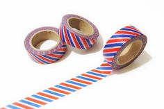 Airmail Red Blue White Stripes Washi Tape  Planner by pinkdotsetc