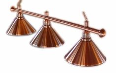 Copper Lights for above Snooker Table, maybe matching leg details in snooker table and in wall panels for room