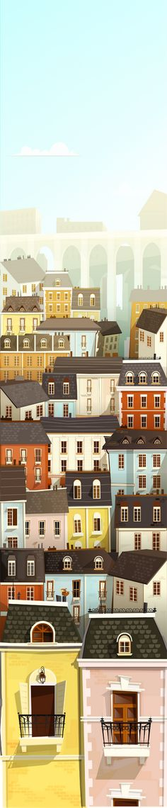 City by Jose Sabatini. Beautiful work done for an animation bg. Blog: http://aisidedpipolblog.blogspot.com/