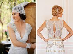 Art deco - beaded wedding dresses