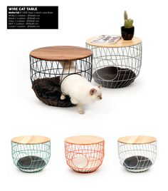 Wire Baskets – All Year – 51 Degrees North Wire Baskets – All Year – 51 Degrees North Animal Room, Crazy Cat Lady, Crazy Cats, Cat House Diy, Cat Basket, Cat Enclosure, Cat Cafe, Cat Room, Pet Furniture