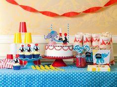 boy's circus birthday party