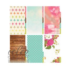 Color Crush Personal Planner Divider Set Kit - In Love With Life - netanella.com
