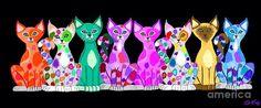 Nick Gustafson - More Colorful Kitties