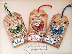 Mixed media tag using products from Itsy Bitsy