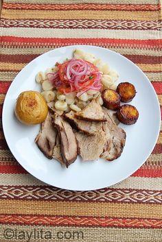 Ecuadorian hornado or slow roasted pork recipe - Laylitas Recipes